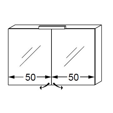 Armoire de toilette ice box 100cm 2 portes miroir for Cube miroir habitat
