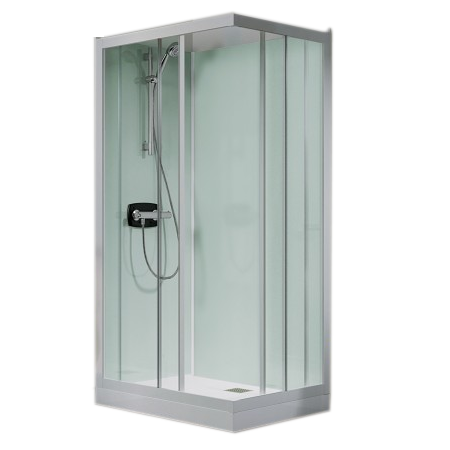 cabine de douche kineprime glass c angle 80x80 portes coulissantes mitigeur thermostatique. Black Bedroom Furniture Sets. Home Design Ideas