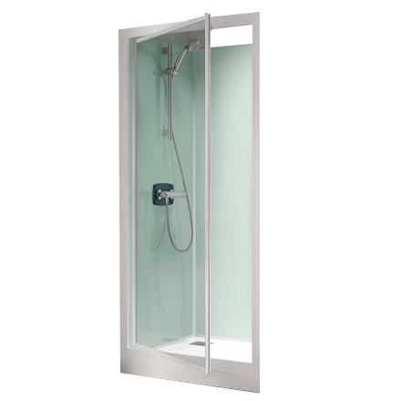Cabine de douche kineprime glass c niche 90x90 porte - Destockage cabine de douche ...