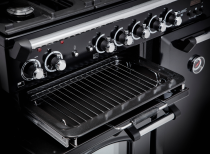 Cuisinière mixte 90cm Falcon New Classic Rouge Airelle Chromé CLA90DFBL/C-EU 3 fours électriques / 5 foyers gaz