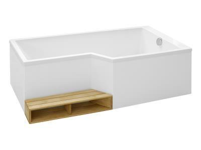 Ensemble baignoire bain douche neo 160 x 90 70 acrylique version droite blanc - Baignoire neo jacob delafon ...