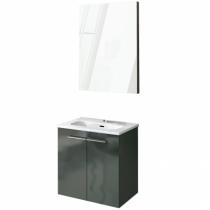 Ensemble meuble Street Pack 50cm Anthracite + plan vasque Street + miroir - ROYO R�f. 123155