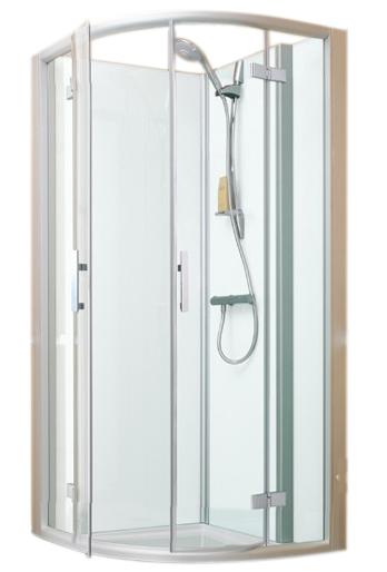 espace douche quart de rond access confort 101x101 portes pivotantes fond blanc vitrage. Black Bedroom Furniture Sets. Home Design Ideas