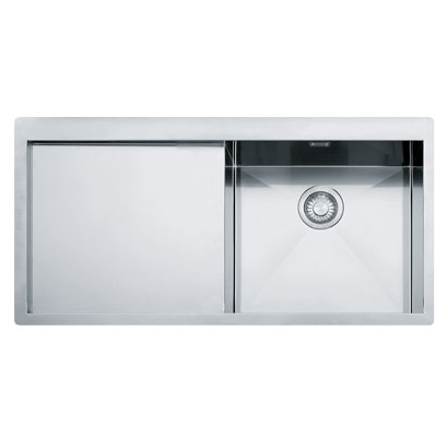 Evier 1 cuve planar ppx211 1000x512mm gouttoir gauche for Dimension evier cuisine standard