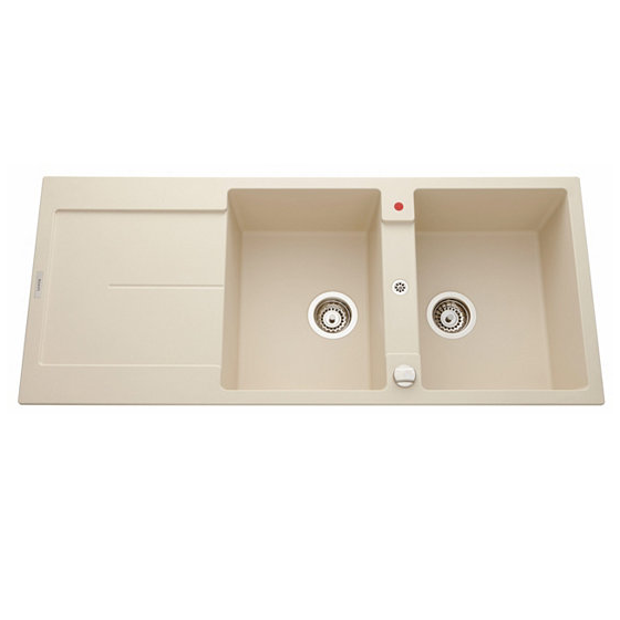 evier r versible 2 cuves tam tam 116x50 avec gouttoir luisigranit champagne luisina r f. Black Bedroom Furniture Sets. Home Design Ideas