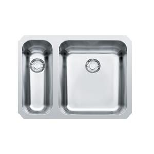 Evier sous plan 2 cuves largo lax160 575 x 420 inox for Evier franke sous plan