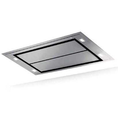 Hotte de plafond inspiration 100cm sans moteur inox for Hotte de cuisine sans moteur