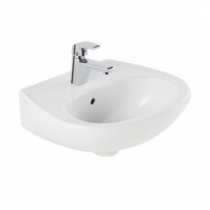 Lave-mains Mondego 45x37.5cm Percé 1 trou Blanc - SANINDUSA Réf. 108340