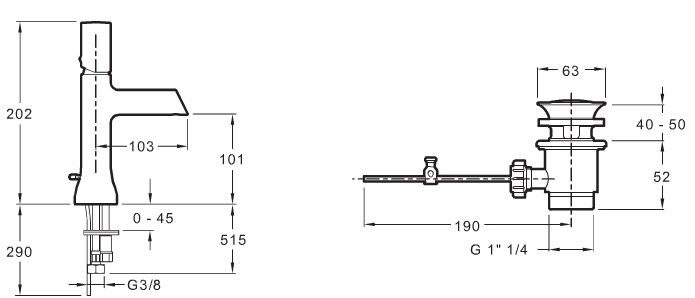 mitigeur lavabo toobi avec bonde de vidage chrome jacob delafon r f e8959 cp. Black Bedroom Furniture Sets. Home Design Ideas
