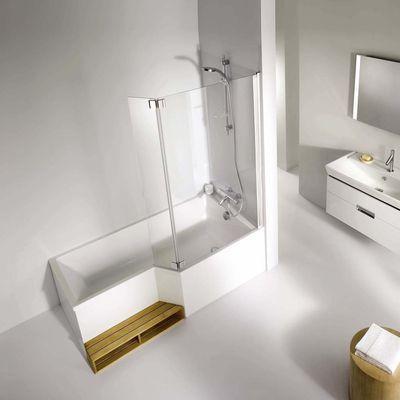 Pare bain neo verre transparent profil chrom for Douche lapeyre salle bains