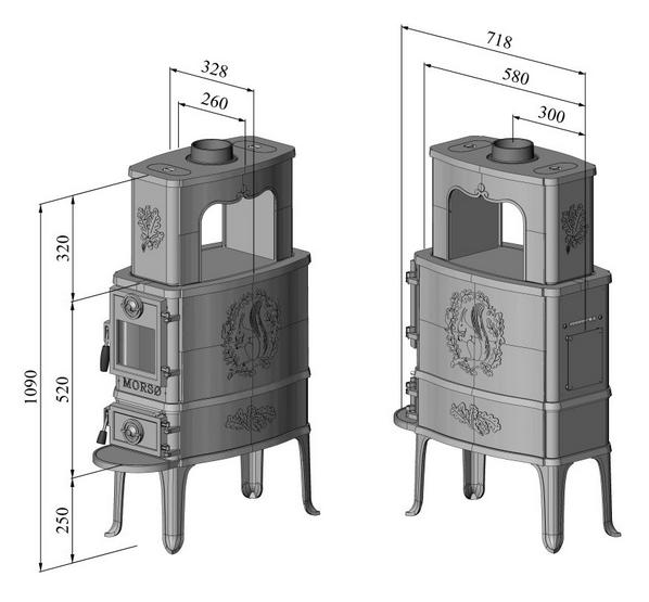 po le bois 2b classic 8kw noir mors r f 64209421. Black Bedroom Furniture Sets. Home Design Ideas
