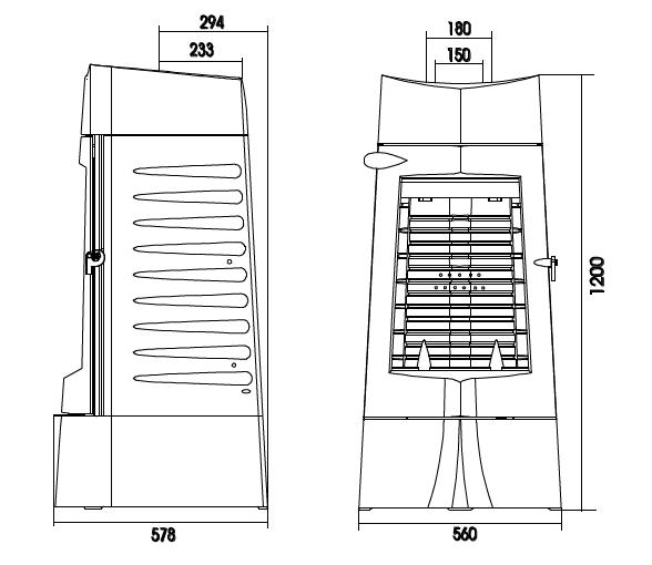 po le bois invicta chamane 10 6156 14 10kw anthracite. Black Bedroom Furniture Sets. Home Design Ideas