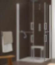 Porte double s same 80cm profil droite verre for Carreau transparent salle de bain