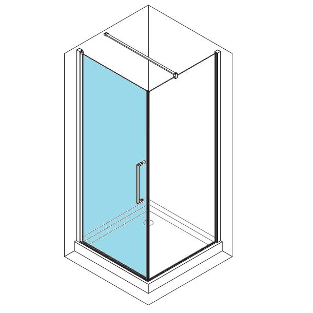 Porte pivotante young 2 0 g 99cm verre transparent for Porte young novellini