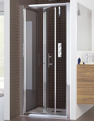 porte pliante sumba 80cm profil chrom verre transparent kinedo r f pa681ctne. Black Bedroom Furniture Sets. Home Design Ideas