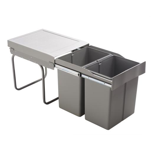 Poubelle tri s lectif 2x 21l gris msa r f 290g for Habitat poubelle cuisine
