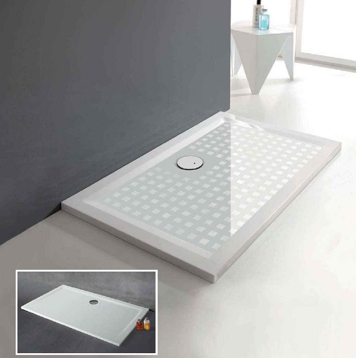 receveur rectangulaire space mineral 70x80 blanc leda r f l12sm3r1758. Black Bedroom Furniture Sets. Home Design Ideas