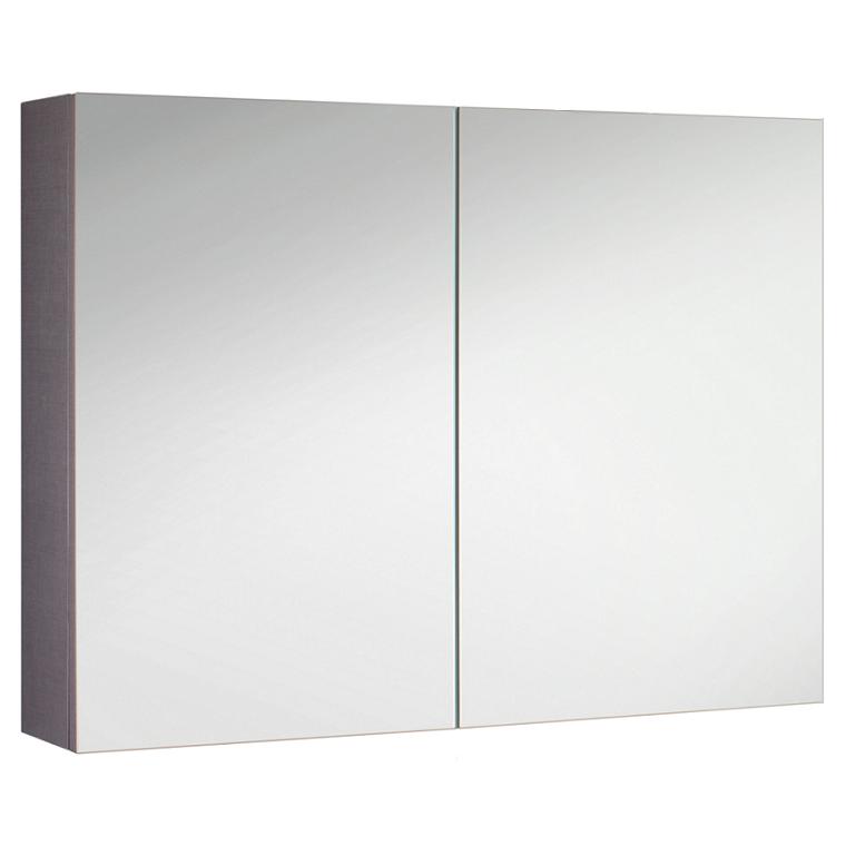 Armoire de toilette swing box 105cm 2 portes double miroir Boitier relevant pour double porte de meuble cuisine