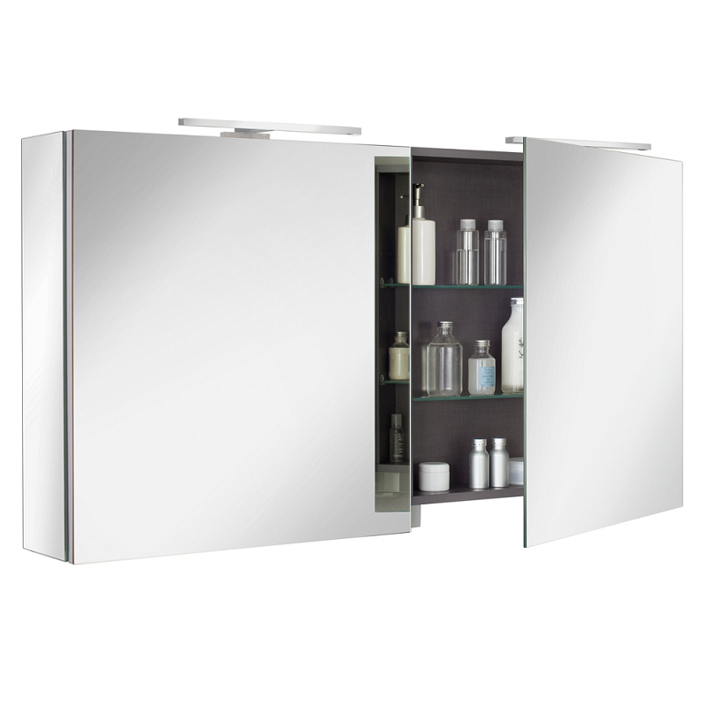 armoire de toilette ice box 120cm 2 portes miroir. Black Bedroom Furniture Sets. Home Design Ideas