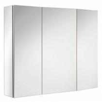 Armoire de toilette ice box 80cm 3 portes miroir double for Cube miroir habitat