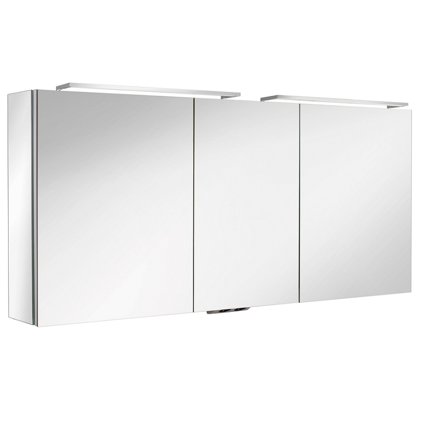 Armoire de toilette ice box 140cm 3 portes miroir double for Miroir double face