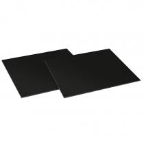 2 planches à découper 44 cm Linéa verre Noir / Inox - SMEG Réf. CVB40N2