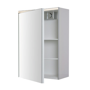 armoire de toilette bellevue 60cm 1 porte m lamin blanc. Black Bedroom Furniture Sets. Home Design Ideas
