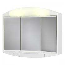 Armoire de toilette Kaly 59cm 3 portes miroir Blanc mat - AQUARINE Réf. 818768