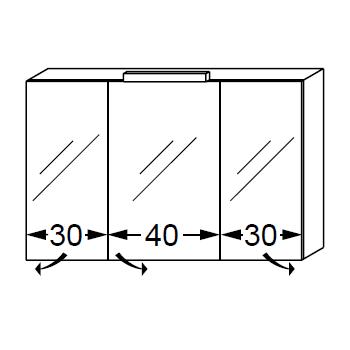 Armoire de toilette swing box 100cm 3 portes double miroir for Cube miroir habitat