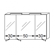 Armoire de toilette swing box 110cm 3 portes double miroir for Cube miroir habitat