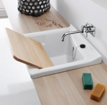 Bac à laver Blink 64x61cm Blanc - SANINDUSA Réf. 108640