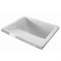Bac à laver Riba 74.5x64cm Blanc - SANINDUSA Réf. 108630