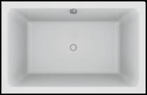 Baignoire acrylique Capsule 140x90cm Blanc - JACOB DELAFON Réf. E6D123-00