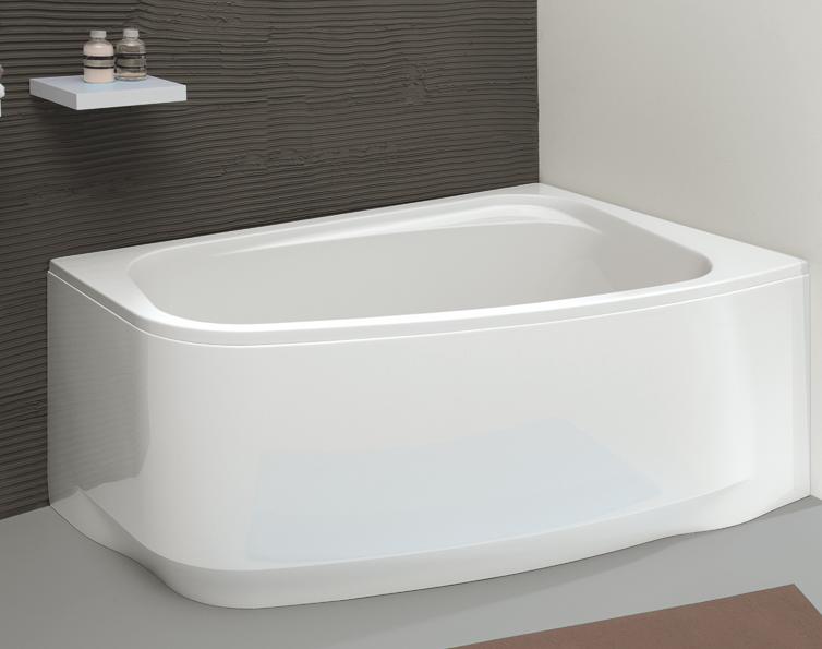 baignoire asym trique frisbee 140x90cm version droite. Black Bedroom Furniture Sets. Home Design Ideas