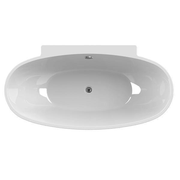 Baignoire autoportante Agata 165x80cm acrylique Blanc - AQUARINE Réf. 824134