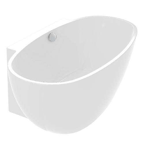 Baignoire autoportante Agata 165x80cm acrylique Blanc mat - AQUARINE Réf. 824134