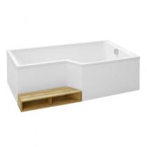 Baignoire bain-douche Neo 160 x 90/70 acrylique version droite Blanc - JACOB DELAFON Réf. E6D000R-00