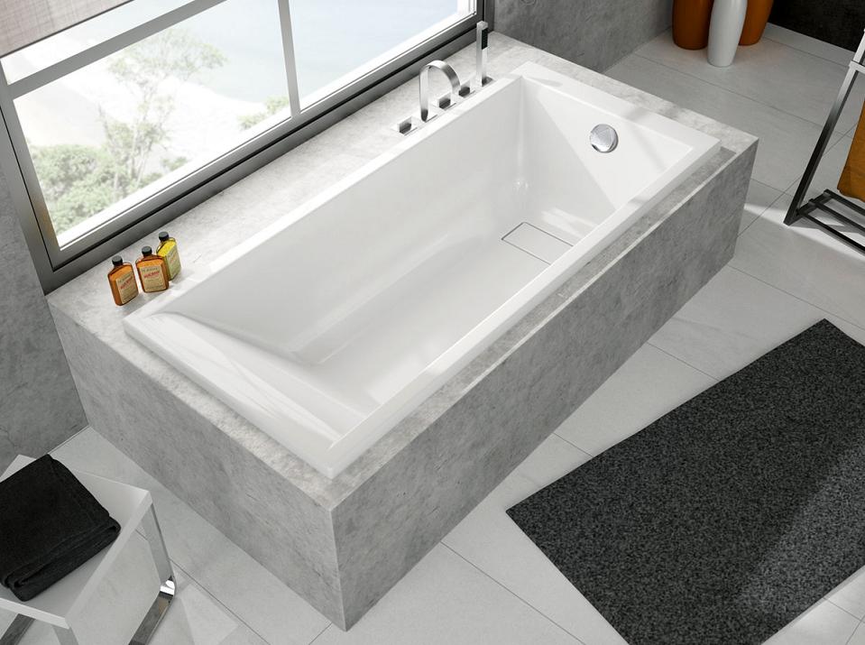 Baignoire rectangulaire Maestro 170x75cm Puretex Blanc - AQUARINE Réf. 208717