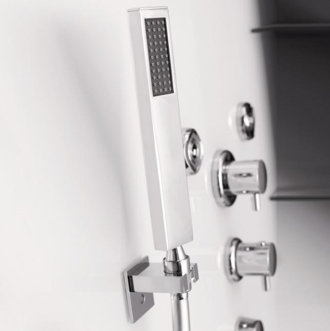cabine de douche horizon 110 receveur standard porte pivotante version thermostatique perle. Black Bedroom Furniture Sets. Home Design Ideas