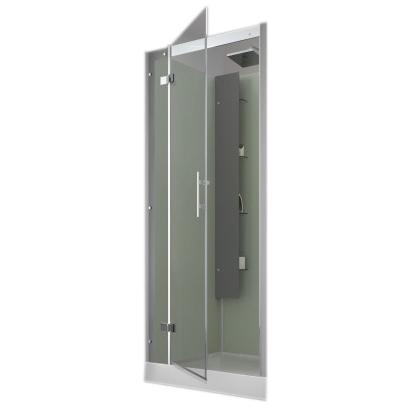Cabine de douche horizon niche 90x90 faible hauteur porte for Cabine de douche faible hauteur