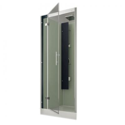 Cabine de douche horizon niche 90x90 faible hauteur porte - Porte de douche 90x90 ...