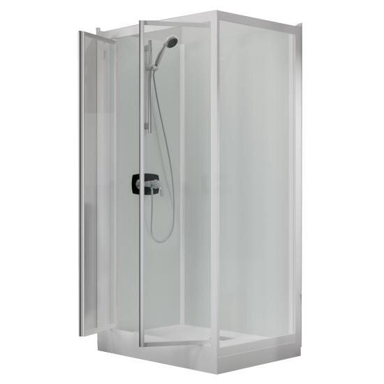 cabine de douche kineprime glass c angle 70x70 2 portes pivotantes mitigeur m canique receveur. Black Bedroom Furniture Sets. Home Design Ideas