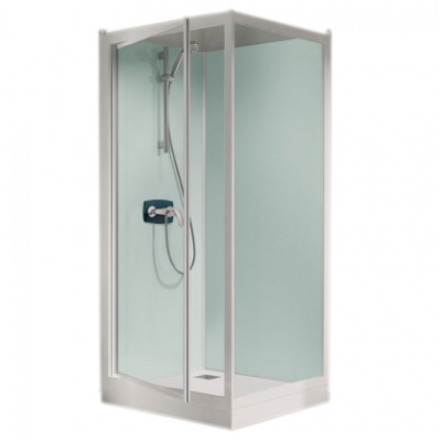 Cabine de douche kineprime glass c angle 90x90 porte - Porte de douche 90x90 ...