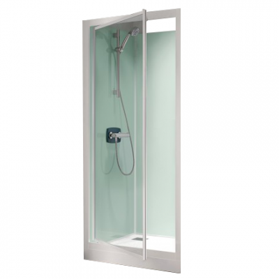 cabine de douche kineprime glass c niche 70x70 porte pivotante mitigeur m canique receveur 25cm. Black Bedroom Furniture Sets. Home Design Ideas