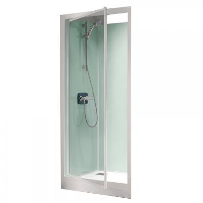 cabine de douche kineprime glass c niche 80x80 porte pivotante mitigeur m canique receveur 25cm. Black Bedroom Furniture Sets. Home Design Ideas