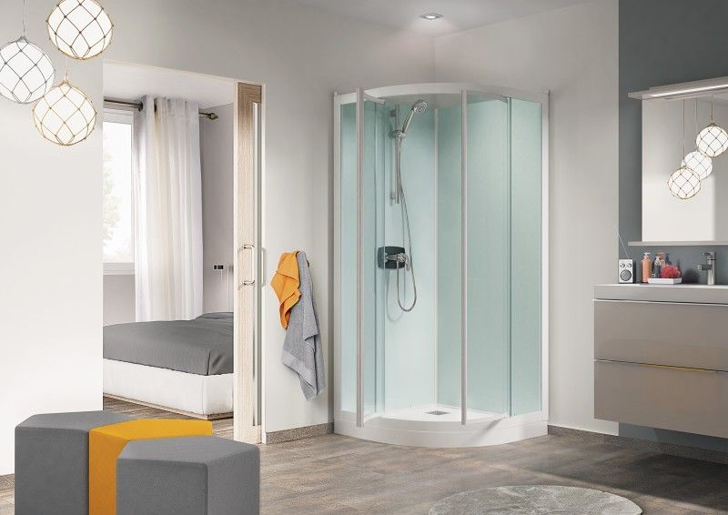 cabine de douche kineprime glass r80 80x80 portes. Black Bedroom Furniture Sets. Home Design Ideas