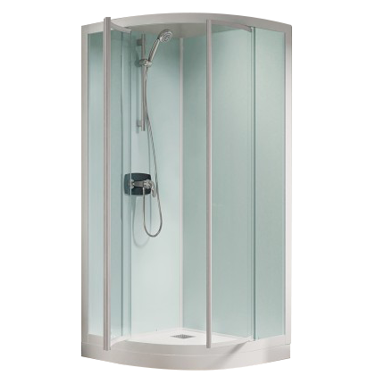 cabine de douche kineprime glass r90 90x90 portes pivotantes mitigeur m canique receveur 15cm. Black Bedroom Furniture Sets. Home Design Ideas