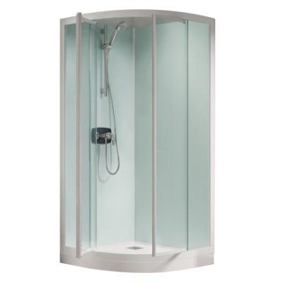 Cabine de douche kineprime glass r90 90x90 portes - Porte de douche 90x90 ...