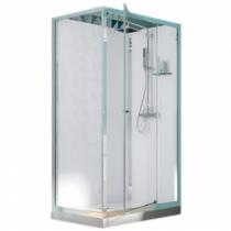cabine de douche rectangulaire eden 100x80 porte pivotante profil chrom verre transparent. Black Bedroom Furniture Sets. Home Design Ideas