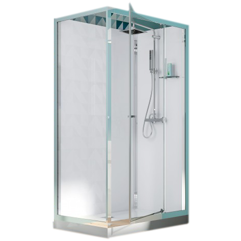 cabine de douche rectangulaire eden 120x80 porte pivotante profil chrom verre transparent. Black Bedroom Furniture Sets. Home Design Ideas
